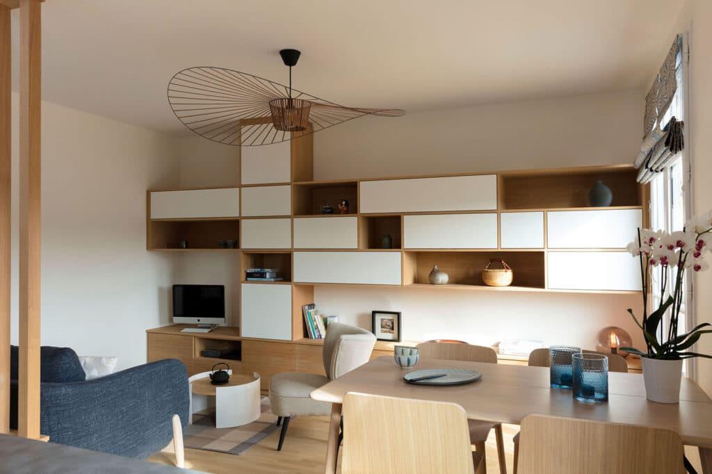 Design sur mesure pour appartement décoration scandinave japonaise, by Christiansen Design, Architecte d'intérieur et Décorateur à Paris, Yvelines, Hauts de Seine, Provence
